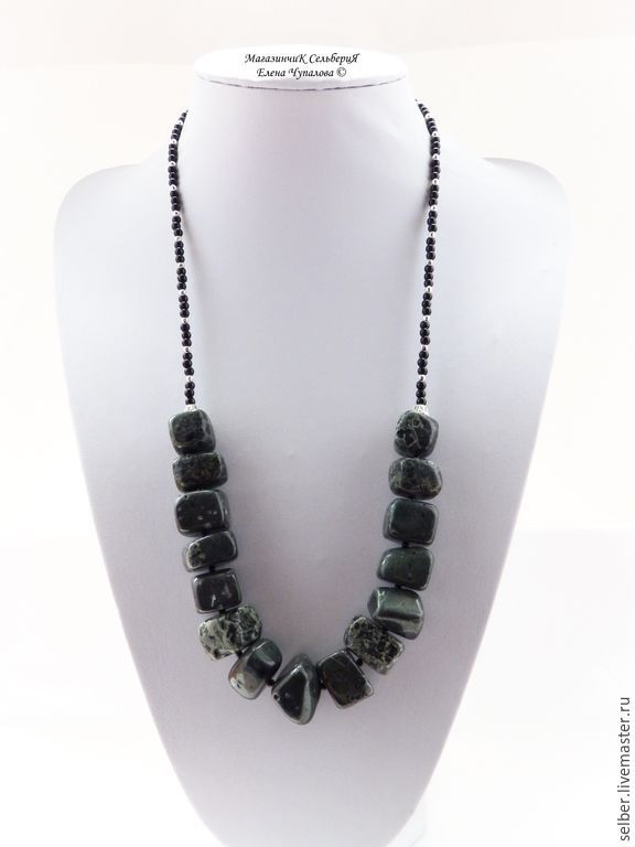 Beads 'Precambrian' stromatolite, Necklace, Gatchina,  Фото №1