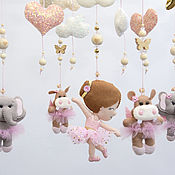 Работы для детей, handmade. Livemaster - original item Mobile on the crib for a girls