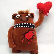 Куклы и игрушки handmade. Livemaster - original item In the name of love!Soft toy Teddy bear with a heart by Vasya Lozhkin. Handmade.
