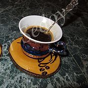 Сувениры и подарки ручной работы. Ярмарка Мастеров - ручная работа Подставочки под чашечку кофе. Handmade.