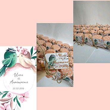 Свадебный салон ручной работы. Ярмарка Мастеров - ручная работа Бонбоньерки под пригласительные. Handmade.
