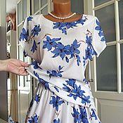 Одежда ручной работы. Ярмарка Мастеров - ручная работа Платье-костюм из штапеля Колокольчики. Handmade.