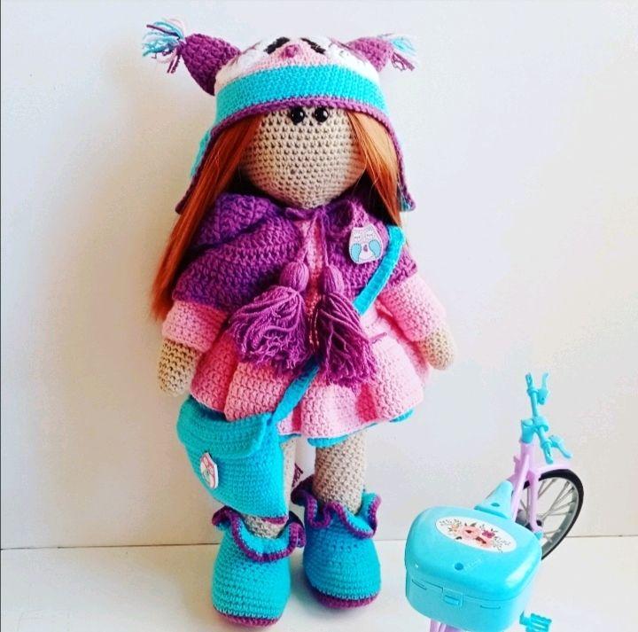 Вязаная куколка крючком, Мягкие игрушки, Москва,  Фото №1
