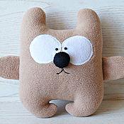 Мягкие игрушки ручной работы. Ярмарка Мастеров - ручная работа Мишка текстильная игрушка. Handmade.
