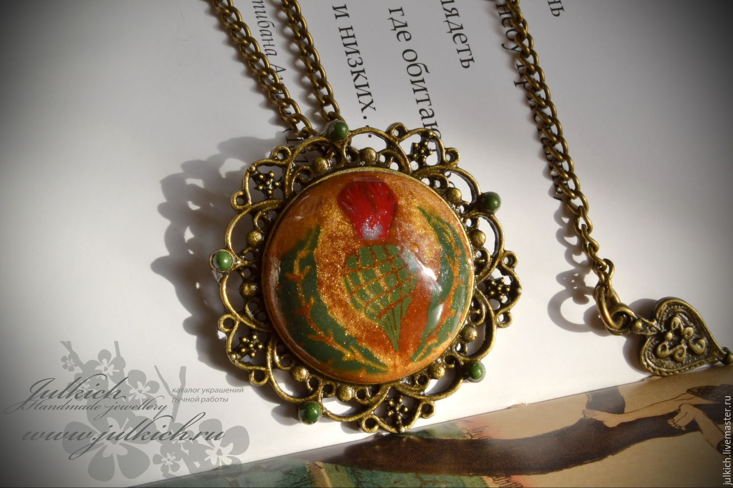 Pendant order of the thistle shop online on livemaster with pendants handmade livemaster handmade buy pendant order of the thistle aloadofball Images