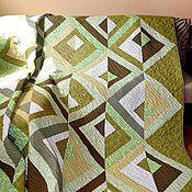 """Для дома и интерьера ручной работы. Ярмарка Мастеров - ручная работа Комплект. Покрывало стеганое + 2 подушки """"Relax"""". Handmade."""
