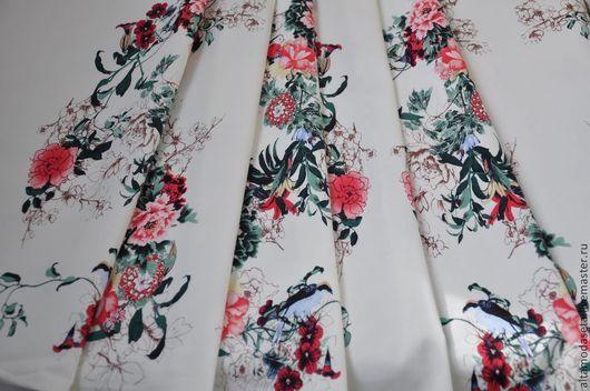 """Шитье ручной работы. Ярмарка Мастеров - ручная работа. Купить Хлопок с эластаном """"красивые цветы"""". Handmade. Ткани для рукоделия"""