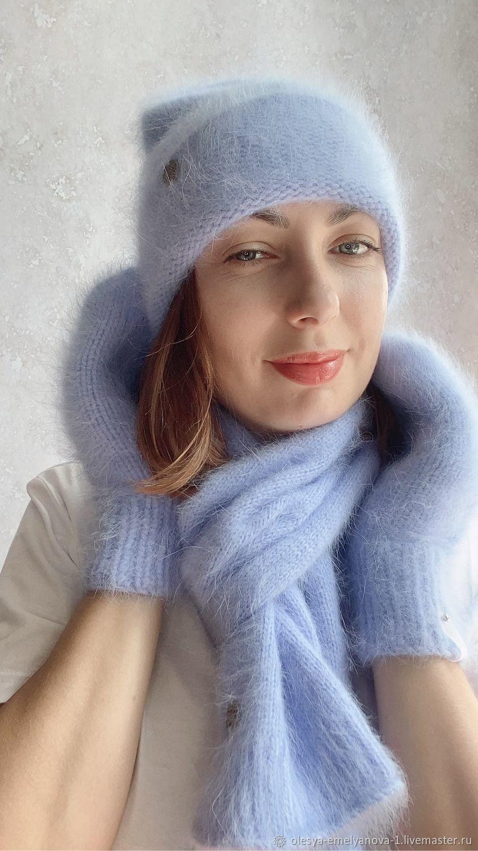 Комплект шапка, шарф, варежки зимний, Шапки, Владивосток,  Фото №1