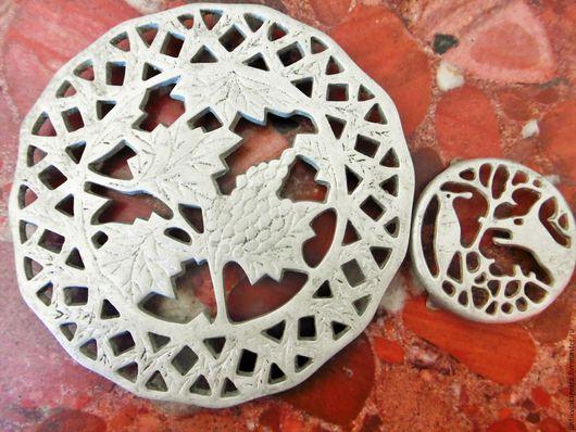 Винтажная посуда. Ярмарка Мастеров - ручная работа. Купить Винтажные подставки под горячее Raisin 1 алюминий Франция. Handmade.