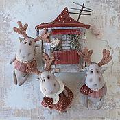 Куклы и игрушки handmade. Livemaster - original item Very funny Moose. Set of 3 PCs.. Handmade.