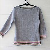 Одежда ручной работы. Ярмарка Мастеров - ручная работа Лен это стильно (вязаная блуза). Handmade.
