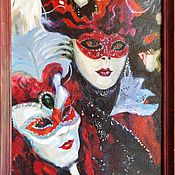 Картины и панно ручной работы. Ярмарка Мастеров - ручная работа Венецианский карнавал.. Handmade.