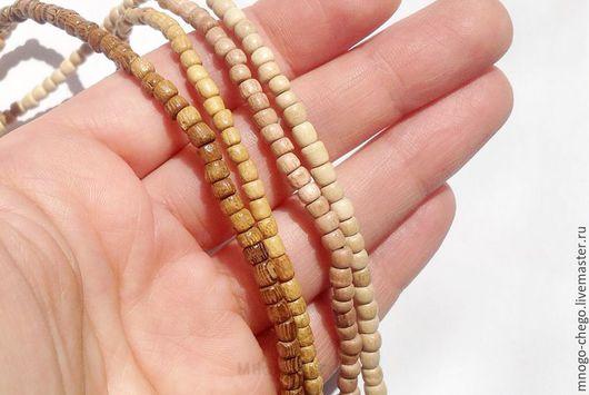 Для украшений ручной работы. Ярмарка Мастеров - ручная работа. Купить Бусины / дерево / 3х3 мм. Handmade.