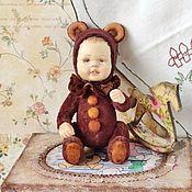 Куклы и игрушки handmade. Livemaster - original item Teddy doll Mihasik with a horse. Handmade.
