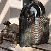 Сумки и аксессуары handmade. Livemaster - original item Dior Python leather handbag. Handmade.
