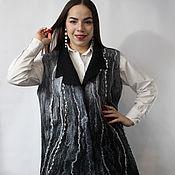 Одежда handmade. Livemaster - original item Felted vest the Night is dark. Handmade.