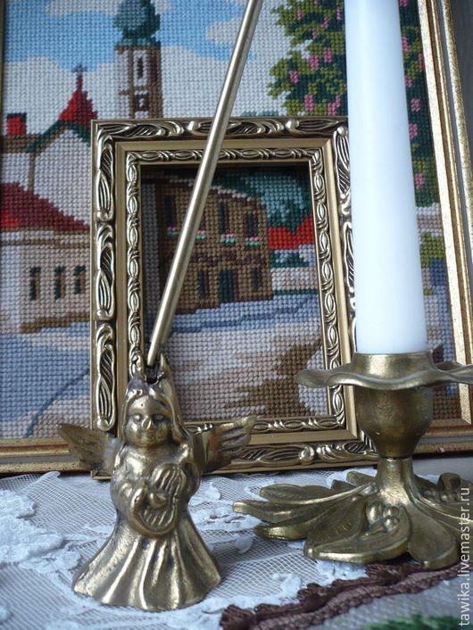Винтажные предметы интерьера. Ярмарка Мастеров - ручная работа. Купить Гаситель для свечей, антикварный, латунь/медь, Австрия/Германия. Handmade. Золотой, старинный