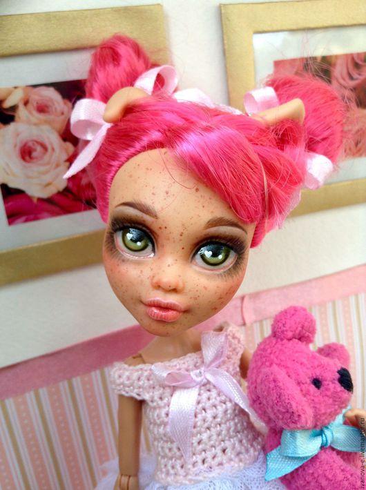 Коллекционные куклы ручной работы. Ярмарка Мастеров - ручная работа. Купить кукла Дариночка. Handmade. Розовый, ooak howleen wolf