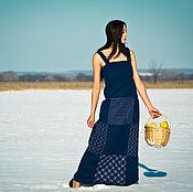 Одежда handmade. Livemaster - original item Embroidered Patterned Linen Sleeveless Dress Floor Length Sun-Dress. Handmade.