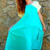 Одежда ручной работы. Ярмарка Мастеров - ручная работа платье лёгкое, из шёлковой вискозы,мята+лимон. Handmade.