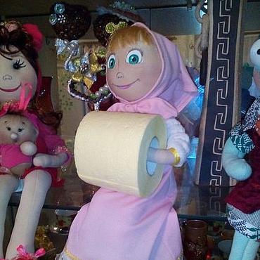 """Для дома и интерьера ручной работы. Ярмарка Мастеров - ручная работа Кукла-держатель туалетной бумаги, бумажных полотенец... """"Машенька"""". Handmade."""