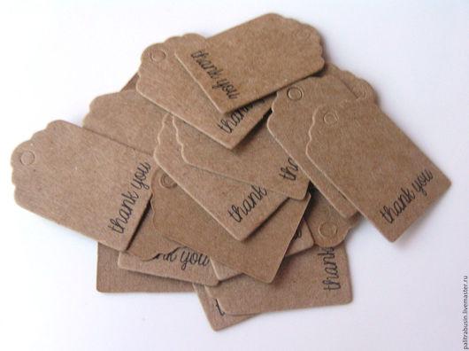 Упаковка ручной работы. Ярмарка Мастеров - ручная работа. Купить Бирки для упаковки для изделий 20 штук. Handmade. Бирка, бирки