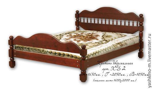 Мебель ручной работы. Ярмарка Мастеров - ручная работа. Купить Кровать двухспальная. Handmade. Кровать, сосна, дерево, мебель на заказ