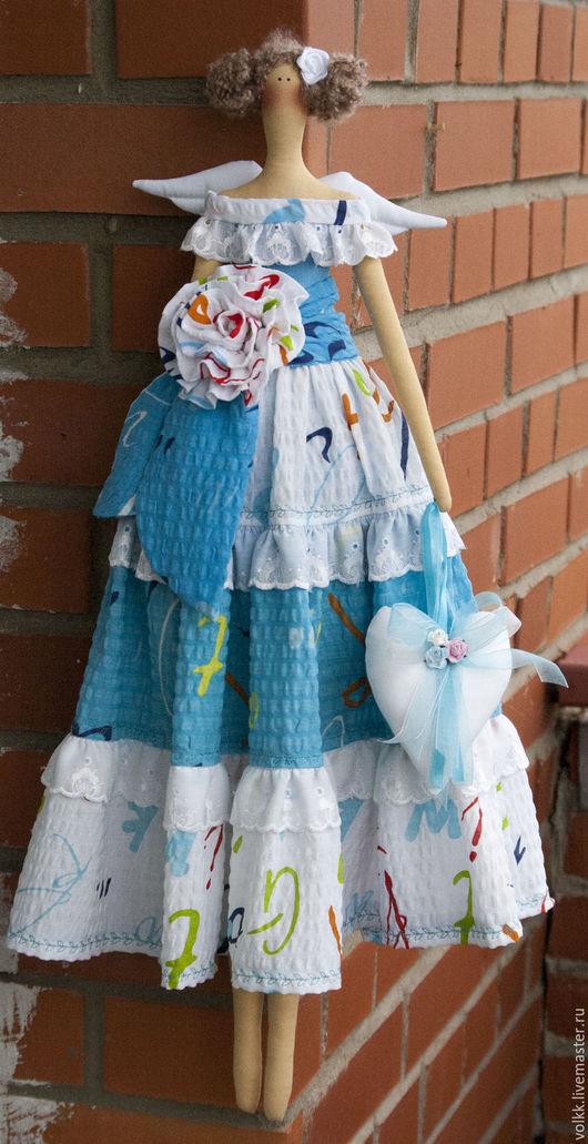 Куклы Тильды ручной работы. Ярмарка Мастеров - ручная работа. Купить Кукла тильда ,ангел. Handmade. Бирюзовый, текстильная кукла