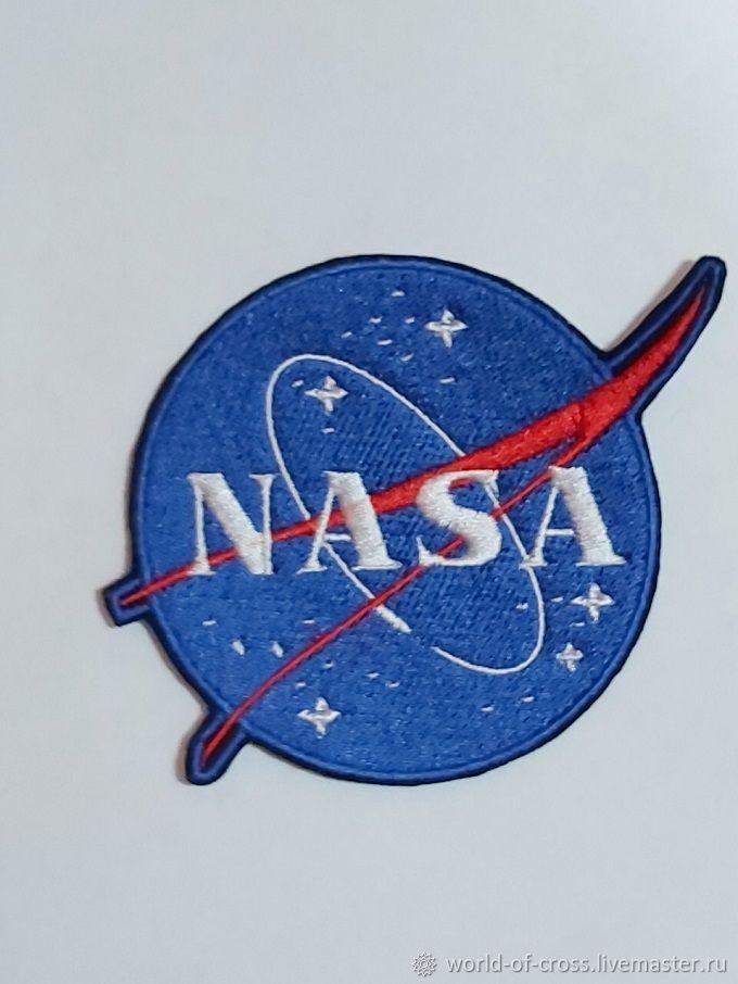 """Аппликации, вставки, отделка ручной работы. Ярмарка Мастеров - ручная работа. Купить Нашивка """"NASA"""". Handmade. Эмблема, нашивки, нашивка"""