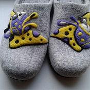 """Обувь ручной работы. Ярмарка Мастеров - ручная работа валяные тапочки """" Странный сыр"""". Handmade."""