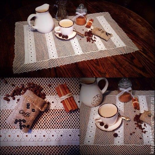 """Текстиль, ковры ручной работы. Ярмарка Мастеров - ручная работа. Купить Салфеточка """"В стиле бохо..."""". Handmade."""