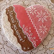 Сувениры и подарки handmade. Livemaster - original item Gingerbread heart