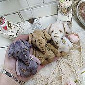 Мишки Тедди ручной работы. Ярмарка Мастеров - ручная работа Мини Слоньки улыбашки. Handmade.