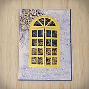 Открытки ручной работы. Ярмарка Мастеров - ручная работа Новогодняя открытка шейкер. Handmade.