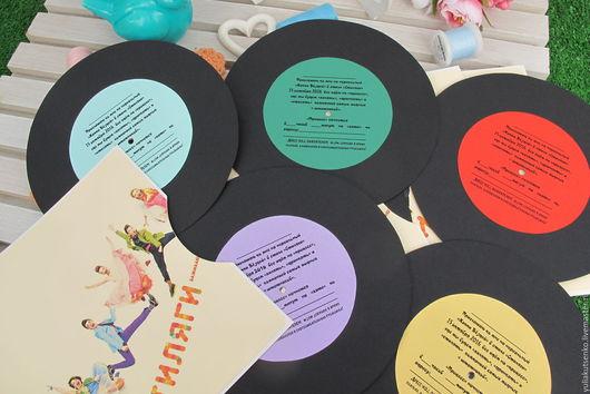 """Пригласительные ручной работы. Ярмарка Мастеров - ручная работа. Купить Приглашение на вечеринку,свадьбу, день рождение в стиле """"Стиляги"""". Handmade."""