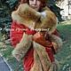 Верхняя одежда ручной работы. Куртка-пальто зимняя красная замшевая с мехом лисы. Ирина (dneproart). Ярмарка Мастеров.