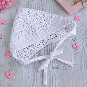 Аксессуары handmade. Livemaster - original item Cap knitted for girls white. Hat infant. Handmade.