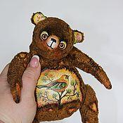 """Куклы и игрушки ручной работы. Ярмарка Мастеров - ручная работа Музыкальный мишка """" Лесная птичка"""". Handmade."""