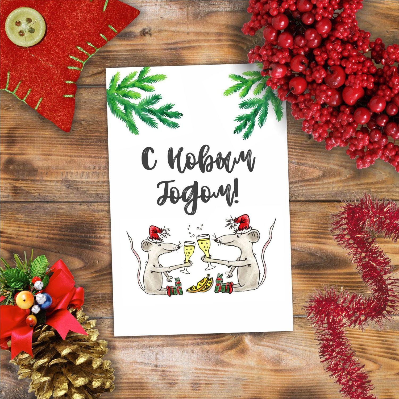 Новогодняя открытка, Иллюстрации, Оренбург,  Фото №1