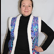 Одежда handmade. Livemaster - original item Vests of wool, decorated with classic pattern.. Handmade.