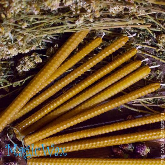 Свечи ручной работы. Ярмарка Мастеров - ручная работа. Купить Свеча из вощины двухчасовая 20х1,3. Handmade. Желтый