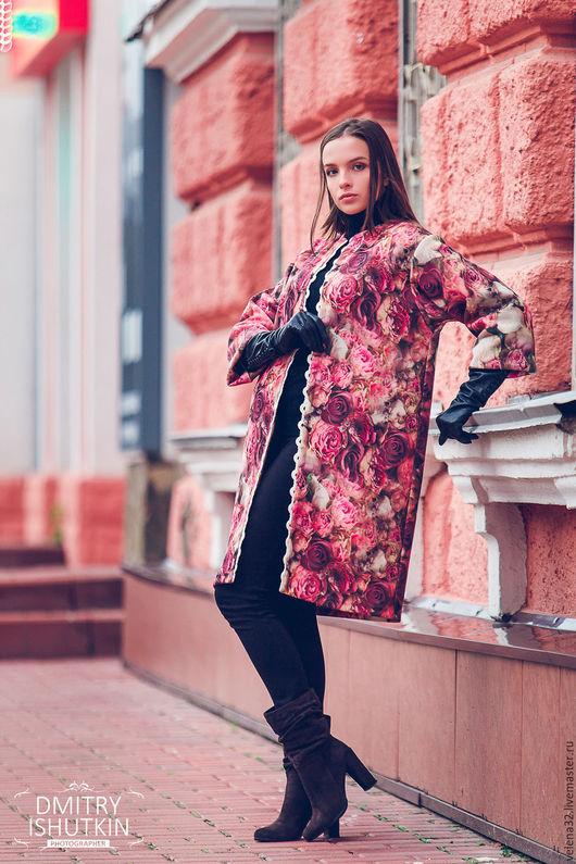 """Верхняя одежда ручной работы. Ярмарка Мастеров - ручная работа. Купить Пыльник """"Розовая мечта""""  ткань шерстяной трикотаж. Handmade."""