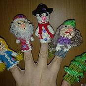 Кукольный театр ручной работы. Ярмарка Мастеров - ручная работа Пальчиковый театр Новый Год и другие. Handmade.