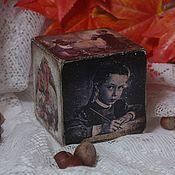 Подарки к праздникам ручной работы. Ярмарка Мастеров - ручная работа До свиданья, мишки! (кубик-открытка). Handmade.