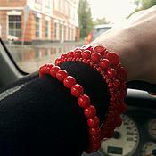 Украшения ручной работы. Ярмарка Мастеров - ручная работа Красный браслет. Handmade.