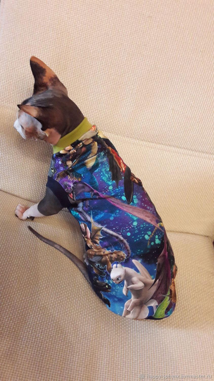 """Одежда для кошек, ручной работы. Ярмарка Мастеров - ручная работа. Купить Одежда для кошек  Майка """"Как приручить дракона"""". Handmade."""