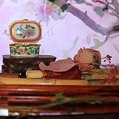 Винтажные предметы интерьера ручной работы. Ярмарка Мастеров - ручная работа Шкатулочка-таблетница фарфоровая, винтаж, Китай. Handmade.
