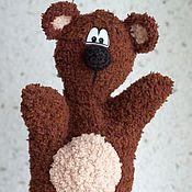 Куклы и игрушки ручной работы. Ярмарка Мастеров - ручная работа Мишка перчаточный. Handmade.