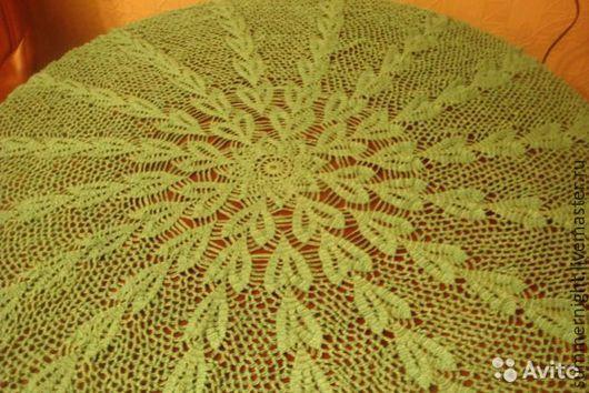 """Текстиль, ковры ручной работы. Ярмарка Мастеров - ручная работа. Купить Круглая скатерть """"Волшебные лепестки"""". Handmade. Зеленый, подарок"""