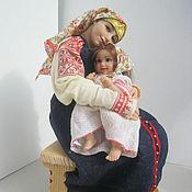 Куклы и игрушки handmade. Livemaster - original item Maternal love. Handmade.
